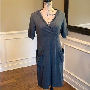Dakini Gray Hooded Long Casual Dress or Coverup